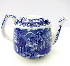 Vintage 1930s George Jones & Sons Abbey Blue White 1.5 Pint Teapot