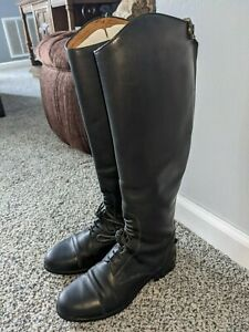 Ariat 55001 Heritage II Field Equestrian Riding Boots Black Leather Women's 7.0