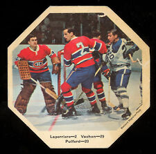 1967-68 York Octagons Hockey NO# Pulford Laperriere vs Rogatien Vachon Canadiens