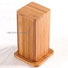 Bamboo Wood Toothpick Holder Jar Case Box Container Lidded Home Decor Vintage