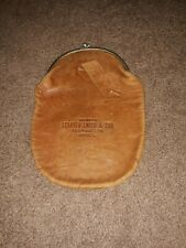 New listing Vintage Leander Smith & Son Bankers Morrison Ill Complimentary Leather Purse
