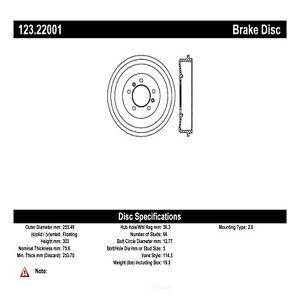 Brake Drum-C-TEK Standard Rear Centric fits 02-05 Land Rover Freelander