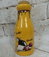 Vintage collectable Sylvester and Tweety corked chocolate bottle 20cm tall