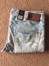 G Star Raw Men's 3301 Jeans Ajustados Medy Denim, Azul (Luz de edad), W40/L38