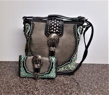 Montana West Buckle Crossbody Bag Matching Wallet Western Countrygirl Purse