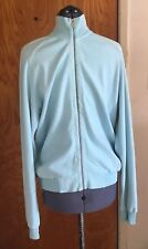 ZEGNA SPORT Lightweight JACKET L Italy Baby Blue Zip Up MINT CONDITION