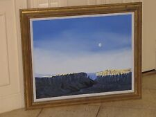 PHIL EPP Original Oil Board Painting Framed New Mexico Blue Sky Mountains