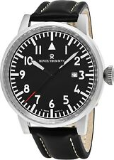 Revue Thommen Men's Air Speed Black Dial Black Strap Automatic Watch 16053.2537