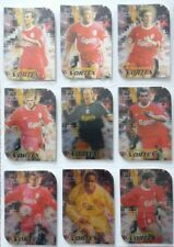 Liverpool Futera 1999 Fans Selection Chrome Vortex Complete Set 9 football cards