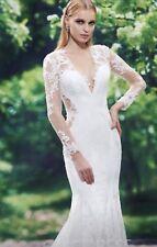 Beautiful Ivory lace wedding dress size 14