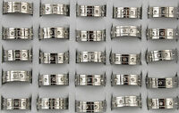Job Lots 28pcs stainless steel Rhinestone silver Band Fashion Top Rings