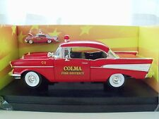AMERICAN MUSCLE POLICE - COLMA FIRE DISTRICT - 1957 CHEVY BEL AIR  - 1/18