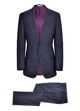 $1,375 NWT TOMMY NUTTER 42R EU52 Navy Herringbone Peak lapel CROMBIE wool suit