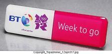 OLYMPIC PINS BADGE 2012 LONDON ENGLAND UK BT SPONSOR COUNTDOWN 1 WEEK TO GO