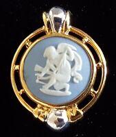 Wedgwood blue jasper wear vintage Art Deco antique brooch