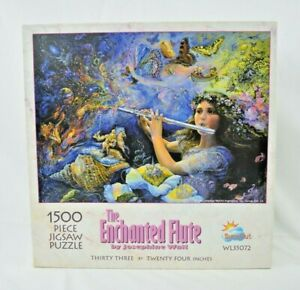 SunsOut - Enchanted Flute - Josephine Wall - 1500 Piece Jigsaw Puzzle - Complete