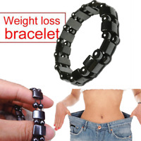 Women Men Black Hematite Magnetic Healing Therapy Bead Bracelet Bangle Fashion