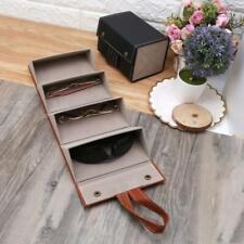 4 Slots Foldable Leather Sunglasses Eyeglasses Eyewear Travel Organizer Case