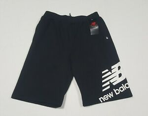 New Balance Boys Youth Lifestyle Fleece Shorts Black cotton