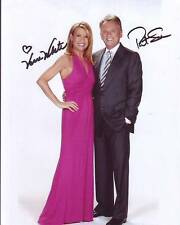 VANNA WHITE & PAT SAJAK signed autographed WHEEL OF FORTUNE photo
