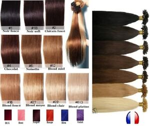 100 Extensions 100% Hair Natural Installation Hot Fusion Keratin, Addition 49 CM