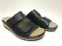 Lueger Damen Klett Pantolette mit herausnehmbarem Fußbett & Halluxeinsatz 62441