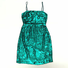 NWOT J CREW COLLECTION PEACOCK SEQUIN DRESS SIZE 00 $650 JADE GREEN