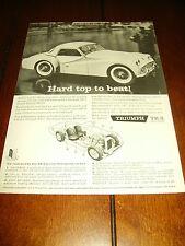 1960 TRIUMPH TR-3   ***ORIGINAL AD***  TR3