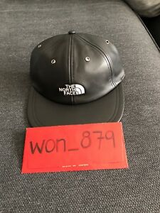Supreme/ The North Face 6-panel Leather Hat Black OS In Hand