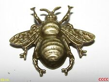 steampunk brooch badge pin bronze honey bumble bee nectar pollen Manchester