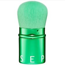 SEALED! Sephora RETRACTABLE KABUKI Brush*METALLIC Emerald GREEN*Travel*Soft*NEW!