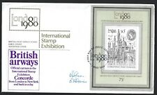 CONCORDE 1980 STAMP EXHIBITION COVER SIGNED GLOVER LIMITED TO 900