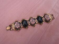 Selro Selini Chunky Pink Black Bracelet