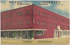 Hotel Horsley in Albertville Al Postcard