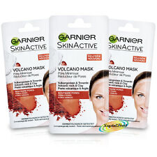 3x Garnier Skin Care Active Pore Minimiser Facial Face Mask 8ml Paraben Free