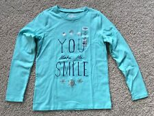 "OshKosh Originals Girls Blue ""You Make Me Smile"" Snowflake L/S Shirt Size 10 NWT"