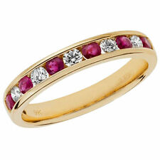 Unbranded Diamond Yellow Gold Ruby Fine Jewellery