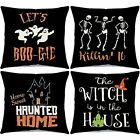 Halloween Throw Pillow Covers 18 x 18 Inches Set of 4 Cushion Cover Case Pillow