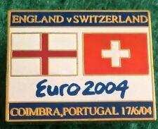 England v Switzerland Euro 2004 Portugal, Coimbra 17 June 2004 Pin Badge