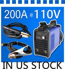 110V Welder Welding Machine No-Gas ARC 200A Portable Welders ZX7200 & accessorie