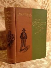 Jonathan and His Continent Fine Binding Antique Book 19th Century 1889