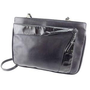 Salvatore Ferragamo Shoulder bag Black Gold Woman Authentic Used C2096