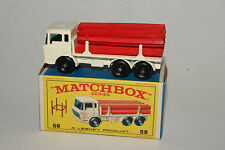 Matchbox #58C DAF Girder Truck, White, Red Girders, Outstanding, Boxed Type E