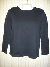 SZ S BAY STUDIO BLACK LONG SLEEVE CASUAL TOP T-SHIRT VGC NO PILLING