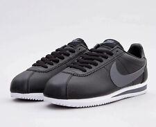 Nike Classic Cortez Leather 749571-011 Negro/Gris Oscuro/Blanco UK 5.5 EU 38.5 Nuevo