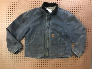 MENS LARGE - Carhartt J164 Sandstone Sherpa Quilted Dearborn Jacket