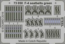 Eduard 1/72 McDonnell F-4 Phantom Seat Belts Green STEEL # 73050