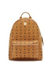 MCM Cognac Brown Medium Backpack