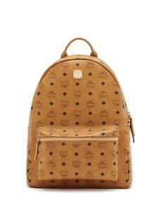 MCM Cognac Brown Medium Backpack