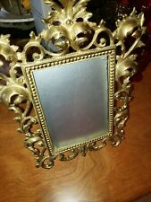 Virginia Metalcrafters 12-4 Ornate Brass Table Top Frame Fits 5x7